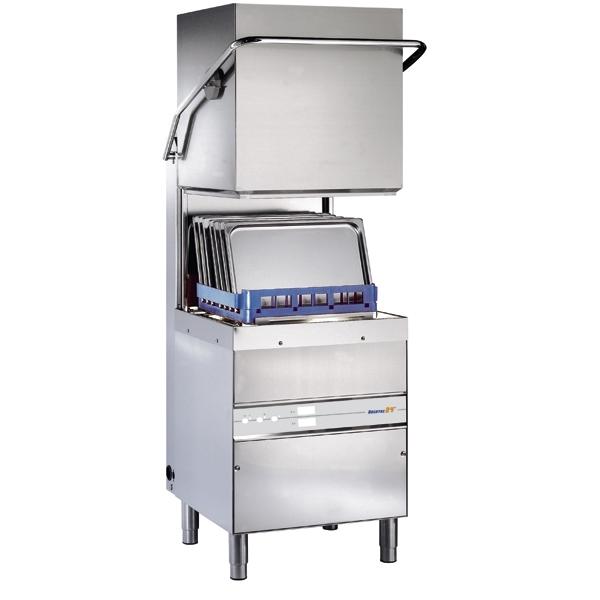 Dishwashers with hood